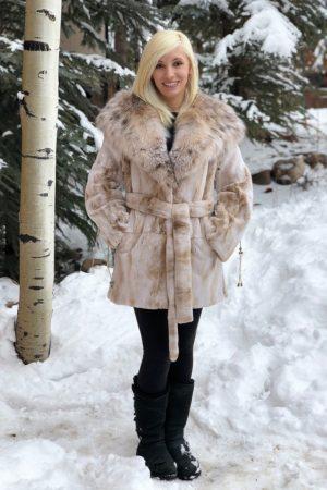mink lynx beige sheared mink Canadian lynx hood belt 1 1000x1176 1