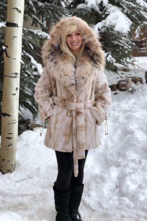 mink lynx beige sheared mink Canadian lynx hood belt 2 1000x1176 1